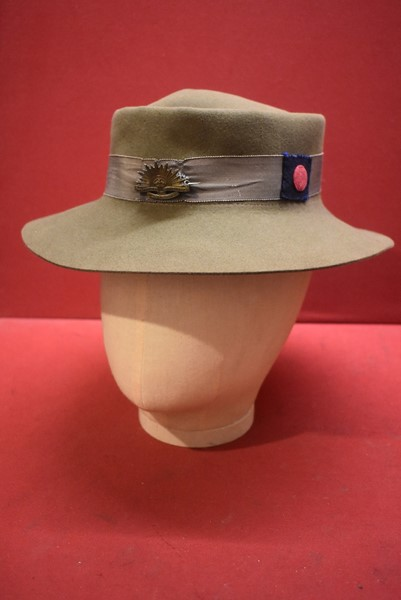 WW2 AUSTRALIAN WOMENS ARMY SERVICE (AWAS) HAT DATED 1943-SOLD
