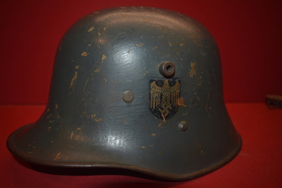 WW2 DOUBLE DECAL KRIEGSMARINE TRANSITIONAL HELMET-SOLD