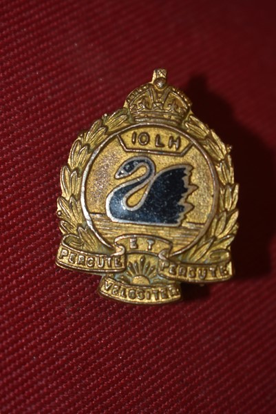 10 LIGHT HORSE COLLAR BADGE. 1900-1930-SOLD
