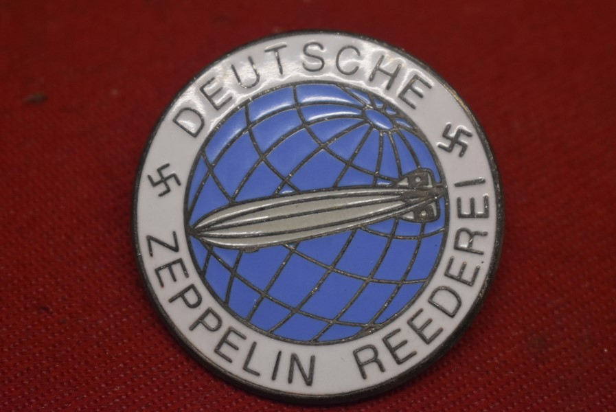 WW2 GERMAN  ZEPPELIN REEDEREI BROOCH, ZEPPELIN SHIPPING COMPANY PIN-SOLD