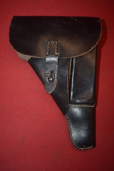 WW2 GERMAN MAUSER P38 BLACK LEATHER PISTOL HOLSTER