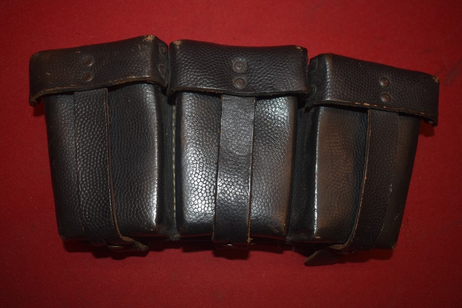 WW2 GERMAN TRIPLE AMMO POUCH FOR THE K98 RIFLE