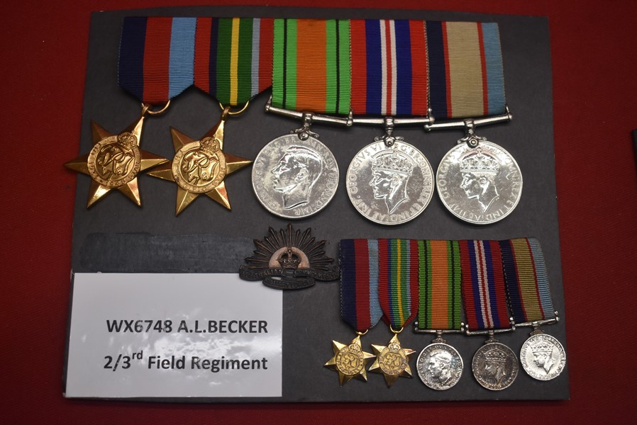 WW2 WEST AUSTRALIAN 5 MEDAL PACIFIC GROUP OF MEDALS
