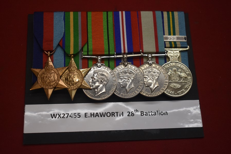WW2 WESTERN AUSTRALIAN 6 MEDAL GROUP
