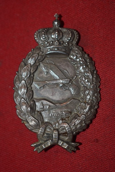WW1 IMPERIAL GERMANY BAVARIAN PILOTS AWARD BY POELLATH IN SILVER NAMED-SOLD